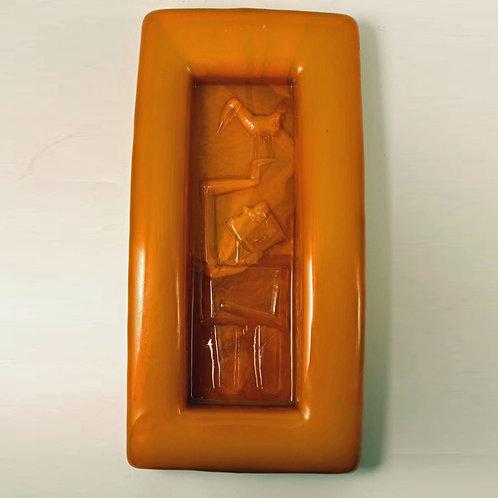 Art Glass Relief/Bowl, Erik Hoglund, Kosta Boda