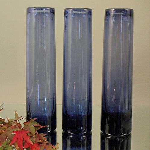 Per Lutken, Holmegaard: Three 'Safir' Vases