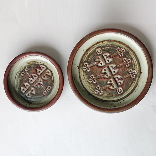 Pair of Stoneware Bowls, Jorgen Mogensen, Own Studio
