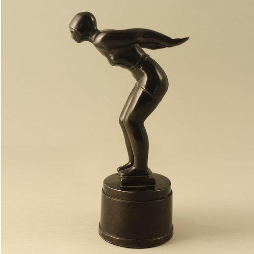 Just Andersen, Denmark. Art Deco Sculpture of Swimmer
