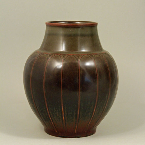 Stoneware Vase, Valdemar Petersen, Bing and Grondahl, Denmark