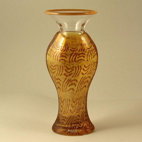 Kjell Engman Art Glass Vase, Kosta Boda, Sweden