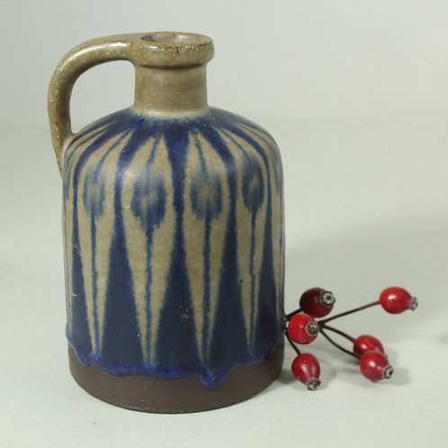 RESERVED Thomas Toft, Denmark. Studio Bottle Vase. Mid Century