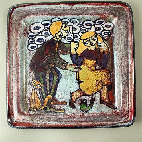 Large Platter. Persia Glaze, Marianne Starck for Michael Andersen, Denma