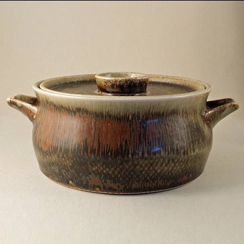 Carl-Harry Stalhane, Rorstrand, Sweden. Lidded Stonware Bowl