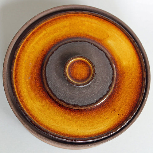 Lidded Stoneware Bowl, Knabstrup, Denmark
