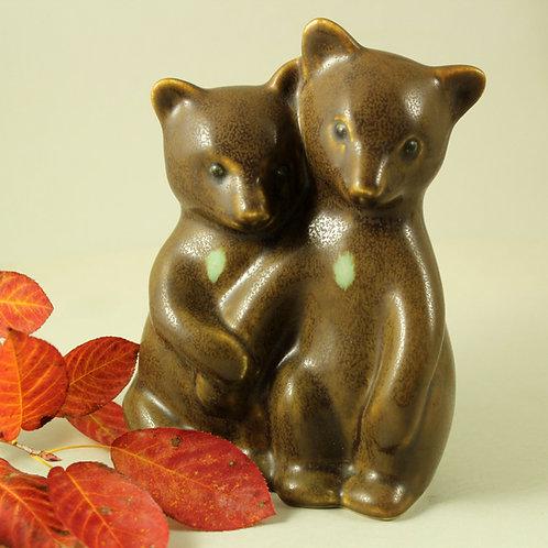 Knud Basse, Own Studio, Denmark. Bear Cubs (Large Size)