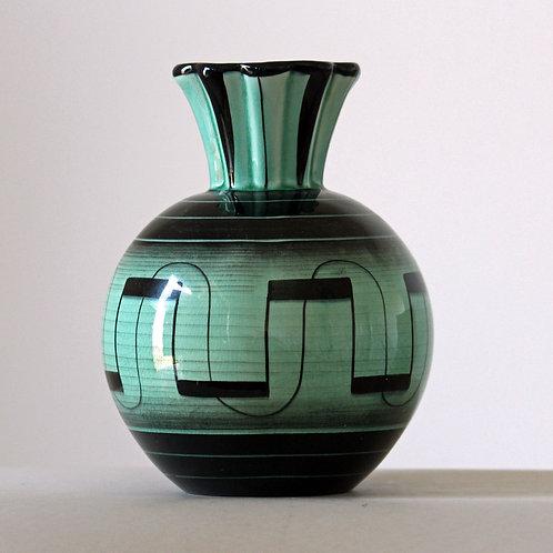 Ilse Claesson, Rorstrand, Sweden. Art Deco Vase,V series