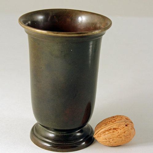 Art Deco Bronze Vase, Argentor, Denmark. Nice patina