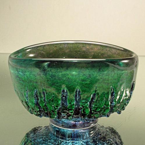 Unique Art Glass Bowl, Goran Warff, Kosta, Sweden