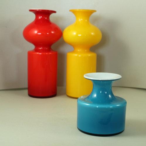 Per Lutken, Holmegaard, Denmark. Carnaby Vase, 1968