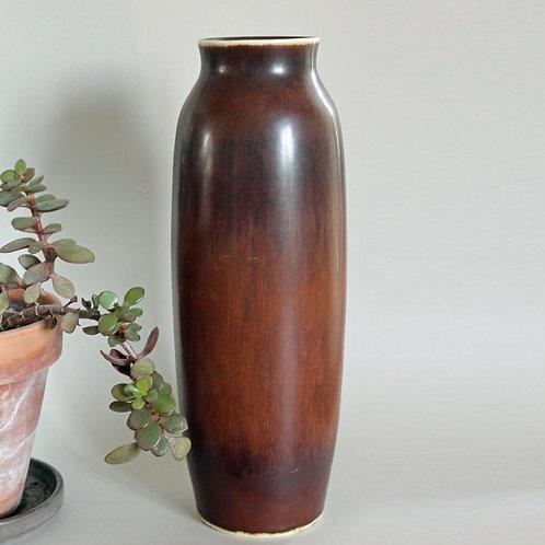 Carl Harry Stalhane, Rorstrand, Sweden. Large Vase, Hare Fur Glaze