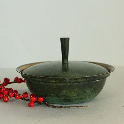 Art Deco Tumulus bronze Lidded Bowl, Denmark