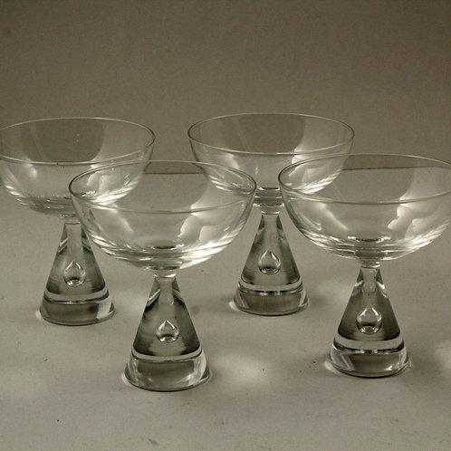 Bent Severin, Holmegaard, Denmark: 4 PRINCESS Sherry Glasses