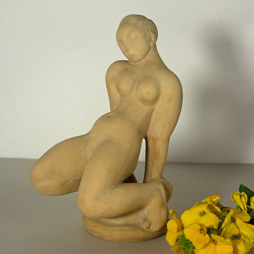 Terracotta Sculpture 'Princess and the Pea' Kaj Nielsen, Kahler