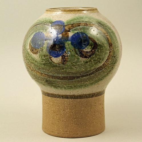 Noomi Backhausen & Poul Brandborg, Soholm, Denmark. Pedestal Stoneware Vase