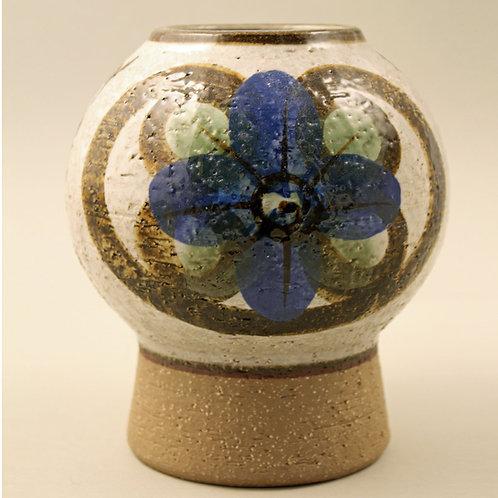 Noomi Backhausen, Soholm, Denmark. Pedestal Stoneware Vase