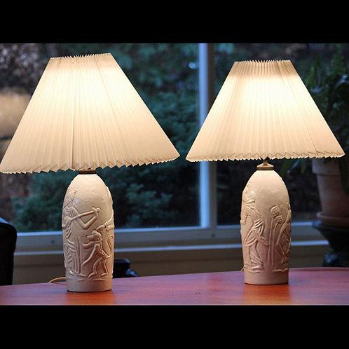 Pair of Art Deco Lamp Bases, L. Hjorth, Denmark