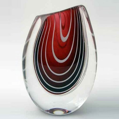 Vicke Lindstrand, Kosta, Sweden. Zebra Glass Vase