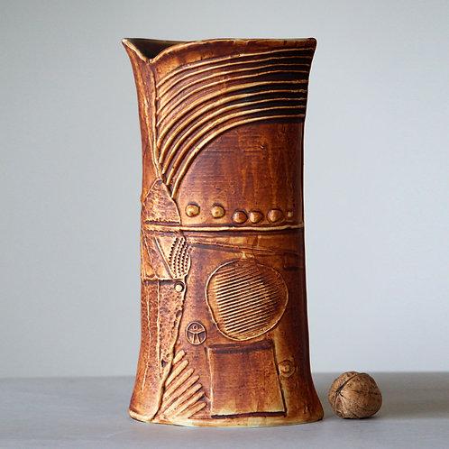 Bertil Vallien, Rorstrand, Sweden. TERRA Stoneware Vase