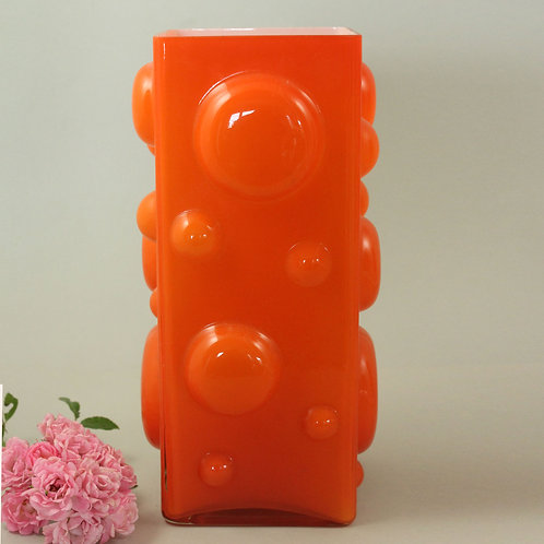 Bright Orange Cased Vase, Swedish Design for IKEA