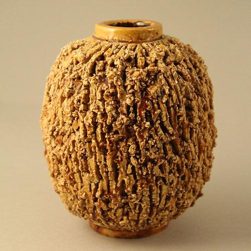 Gunnar Nylund, Rorstrand, Sweden. Chamotte 'Igelkott' Vase