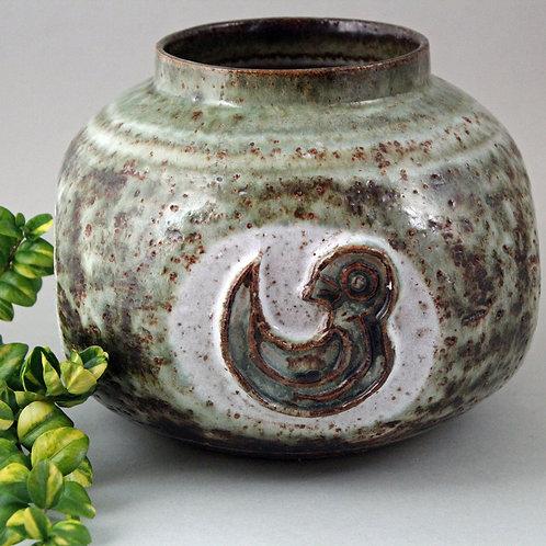 Mid Century Stoneware Vase, Kingo Keramik, Denmark