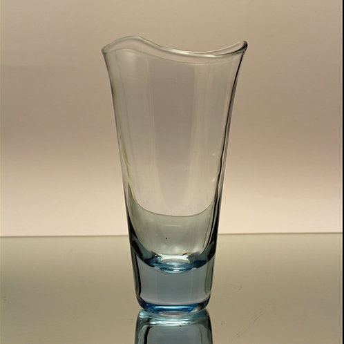 Per Lutken, Holmegaard: Aqua Blue Conical Vase, 1957