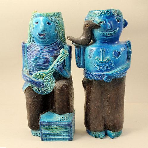 Aldo Londi, Pair of Hanging Sculptures, Bitossi.