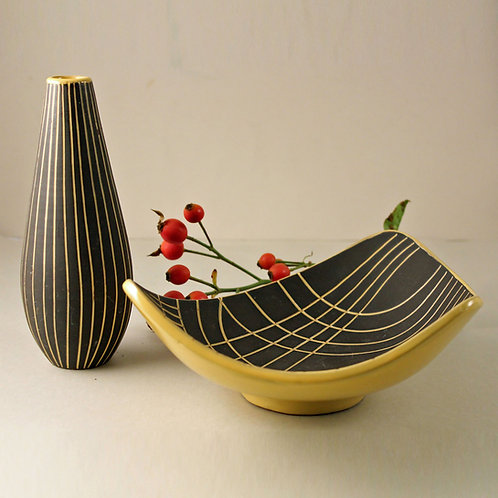 Gabriel Keramik, Sweden. Bowl and Vase, LIDO Line