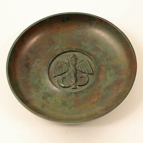 Art Deco Bronze Bowl, Sune Backstrom, Sweden