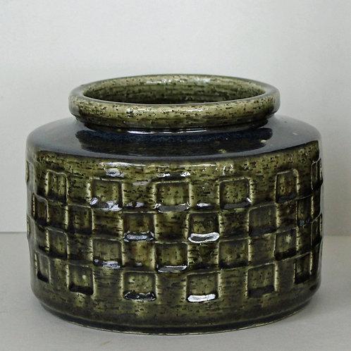 Palshus, Denmark, Large Stoneware Chamotte Vase