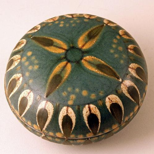 Dybdahl Denmark, Hand-Painted Lidded Bowl