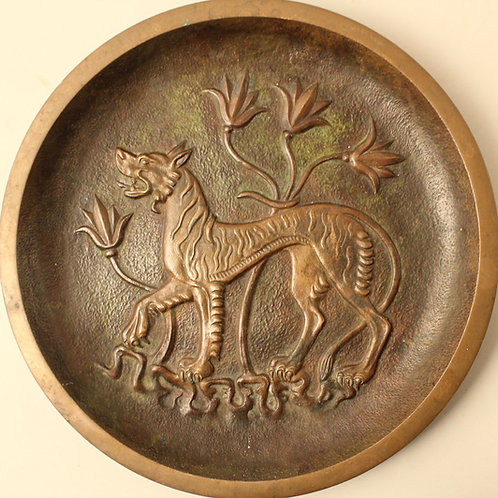 Fenris Wolf, Art Deco Bronze Dish, Tinos, Denmark