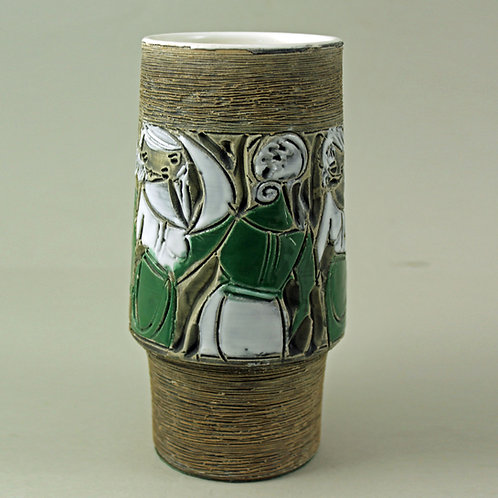 Fratelli Fanciullacci Italy. Vintage Vase. Mid Century Modern