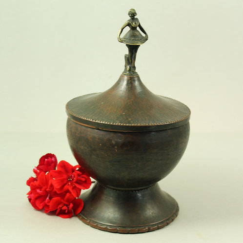 Einar Backstrom, Sweden. Art Deco Bronze  Lidded Bowl