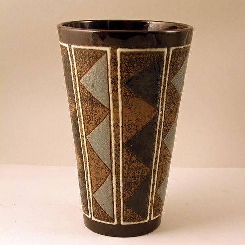 Gete Petersen Stoneware Vase, Kahler, Denmark