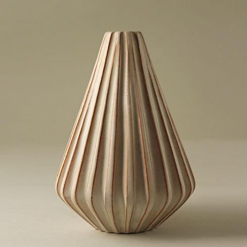 Schollert, Denmark. Fluted Modernist Vase