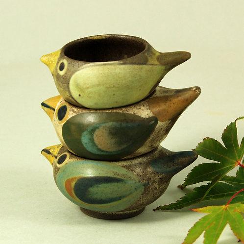 Dybdahl Studio, Denmark, Set of Three Hand-painted Egg Cups