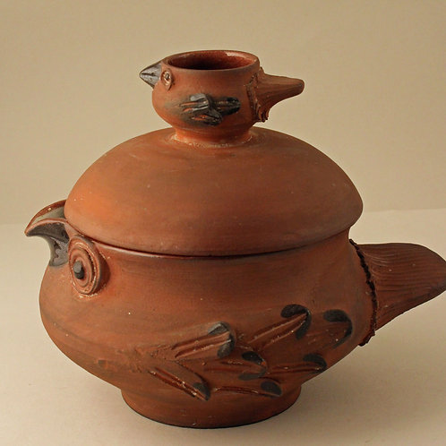 Lidded Bird Bowl, Dybdahl Studio, Denmark.