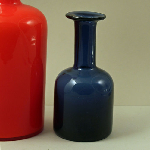 Miniature Art glass Vase, Otto Brauer, Holmegaard, Denmark
