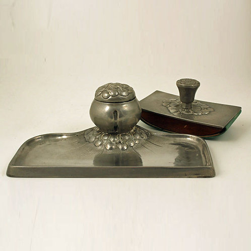 Ballin and Hertz. Pewter Ink Stand Desk Set
