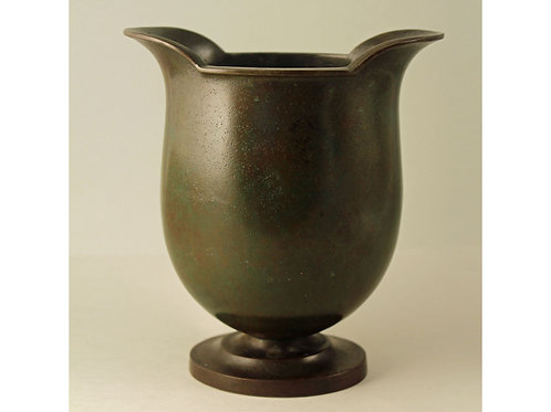 Just Andersen for G.A.B, Sweden. Heavy Bronze Vase