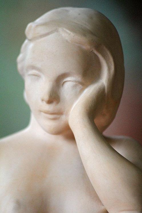 E. Salbo, Denmark. Terracotta Nude Sculpture
