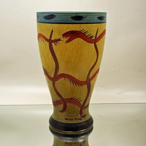 Impressive Art Glass Vase, Ulrica Hydman-Vallien