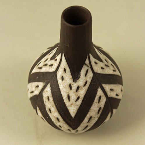 Small Vase Tribal, Negro Series. Marianne Starck, Michael Andersen