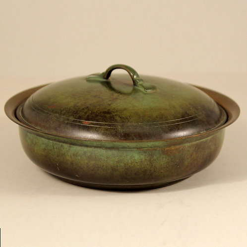 Just Andersen Light Bronze Art Deco Lidded Bowl,