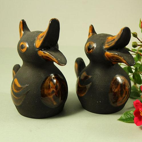 Pair of Hand-Painted Ducklings from Hegnetslund Studio, Denmark