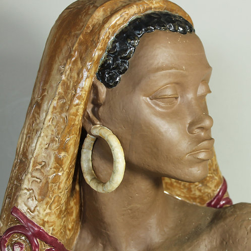 Large LLADRO African Woman Vintage Bust