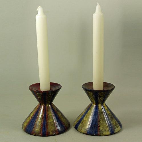 Marianne Starck for Michael Andersen, Denmark. Pair of Candlestick Holders